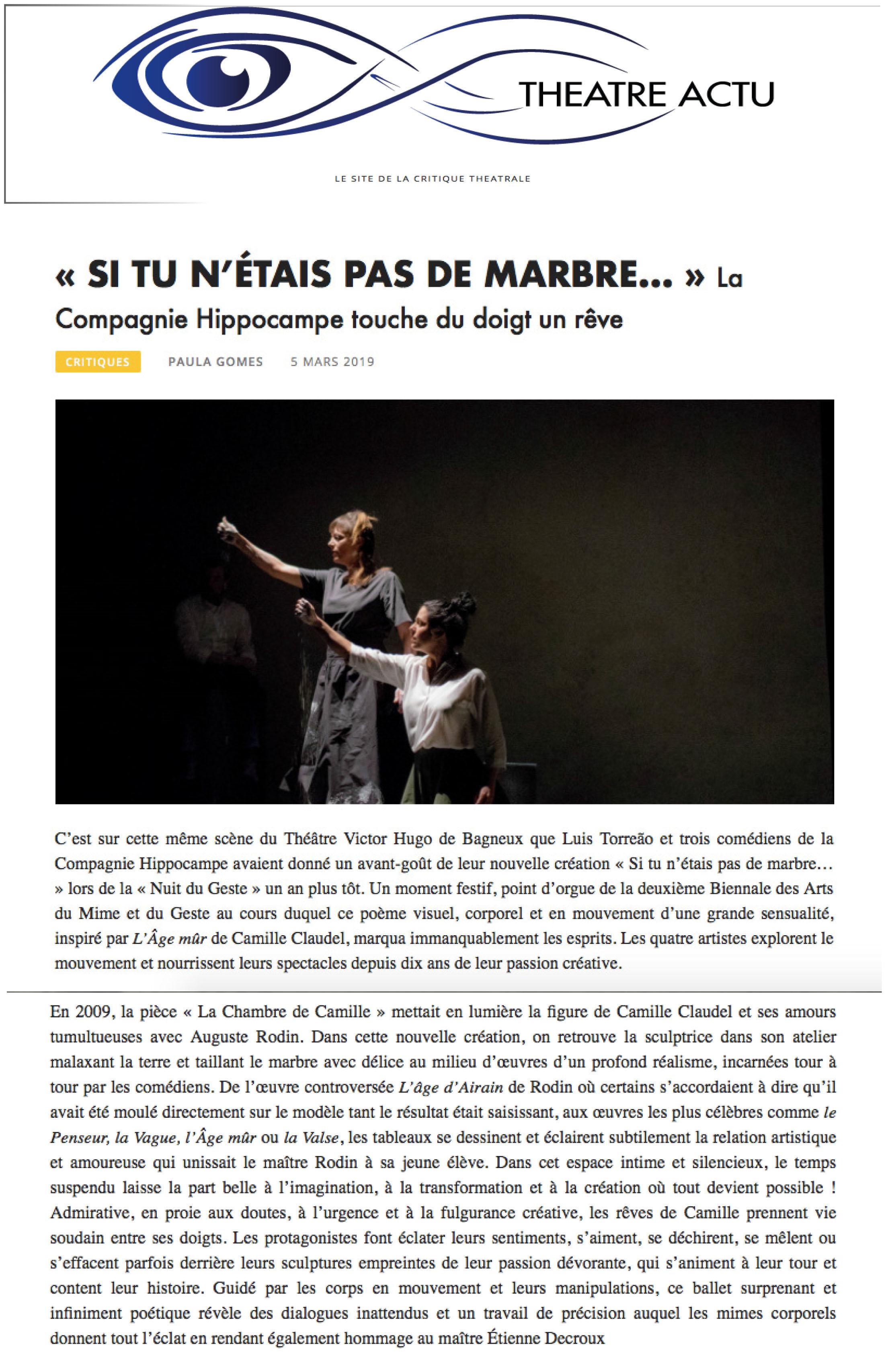 theatre actu 1red
